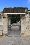 Side view of the Synagogue in Capernaum Stock Photos