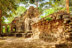 Side view of Ta Kou in Angkor Wat complex . Siem Reap, Cambodia Royalty Free Stock Photography