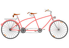 Retro tandem. Royalty Free Stock Images