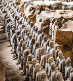 Side view of the Terracotta Warriors. Xi`an, China Stock Images