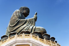 Side view of Tian Tan Buddha Royalty Free Stock Photos