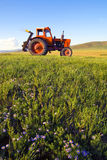 Side View Of A Tractor In A Scenic View Stock Photos