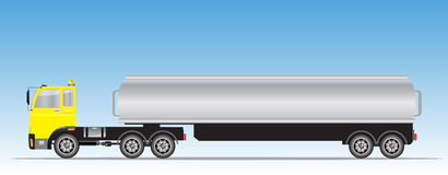 Side view of trailer of Big Oil Tanker Royalty Free Stock Photos