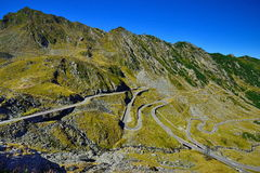 Side view of the Transfagarasan road from Romania. Royalty Free Stock Image
