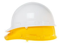 Isolated Hard Hat - Side White & Yellow Royalty Free Stock Image