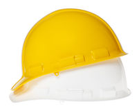 Isolated Hard Hat - Side Yellow & White Royalty Free Stock Photo