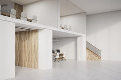 Side view of two storey office with conference rooms  Royalty Free Stock Image