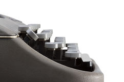 Side view of typewriter keyboard Royalty Free Stock Photos
