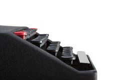 Side view of typewriter keyboard Stock Photography