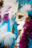 Side view of a Venetian mask Royalty Free Stock Image