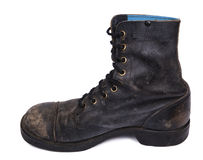Isolated Used Army Boot - Inner Side Stock Images