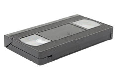 Side view of vhs video tape stock photo