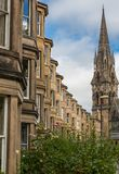 Side view of vintage facades in Edinburgh Royalty Free Stock Photo