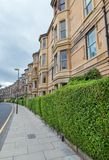 Side view of vintage facades in Edinburgh Stock Photography