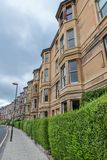 Side view of vintage facades in Edinburgh Royalty Free Stock Images