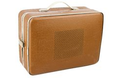 Side view of vintage suitcase turntable Royalty Free Stock Photos
