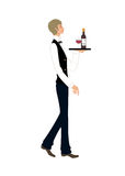 Side view of waiter Royalty Free Stock Photos