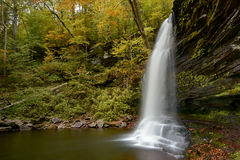 The Side View of a Waterfall Royalty Free Stock Images
