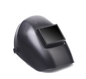 Side view of welding mask. Royalty Free Stock Image