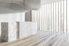 Reception hall, side, ceiling, wood side Royalty Free Stock Photo