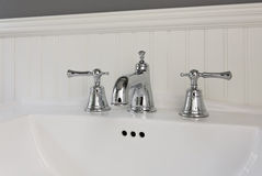 Side view of white sink Royalty Free Stock Image