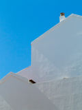 Side view of a whitewashed house Stock Image