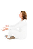 Side view of woman meditating Stock Photo