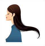 Side view of woman Royalty Free Stock Photo