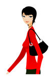 Side view of woman royalty free illustration