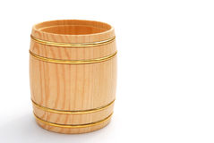 Side view wooden barrel Royalty Free Stock Image
