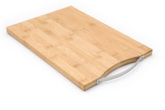 Side view wooden chopping board Royalty Free Stock Photos