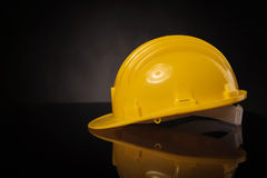 Side view of a yellow construction safety  helmet Stock Photo