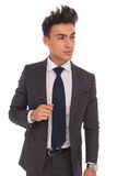 Side view of a young business man looking away Royalty Free Stock Photography