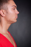 Side view of a young casual man Royalty Free Stock Photos