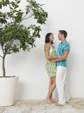 Side View Of Young Couple Embracing Royalty Free Stock Photos