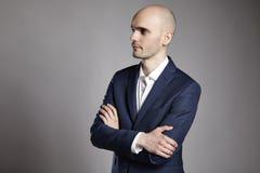 Portrait of Pensive Man Stock Photo