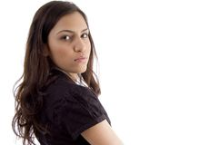 Side view of young woman Royalty Free Stock Photos