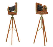 Side views of vintage large format camera Stock Images