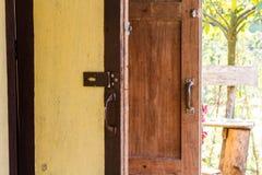 Side of vintage door Stock Images