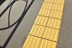 Side walk for blind people Royalty Free Stock Photography