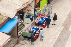 Side walk cafe and restaurant in Fez Stock Photos