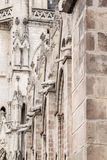 Side wall of the Basilica del Voto Nacional showing animals serving as gargoyles. In Quito in Ecuador Royalty Free Stock Photography