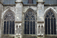 The side-wall of the cathedral  of Saint Gatien in Tours, Stock Image