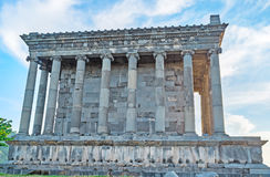 The side wall of Garni Temple Stock Image