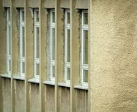 Side wall with windows Royalty Free Stock Photo