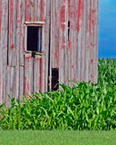 The side of a weathered barn Stock Image