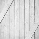 Side of white, grey wooden crate, box with diagonal planks Stock Image