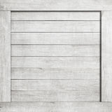 Side of white scratched wooden crate, box, wall or frame. Royalty Free Stock Photo