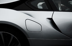 Side of White Sports Car Royalty Free Stock Photography