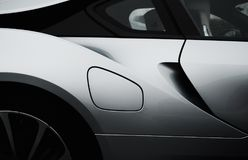 Side of White Sports Car Royalty Free Stock Photos